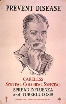 TB Warning poster from the 1920's