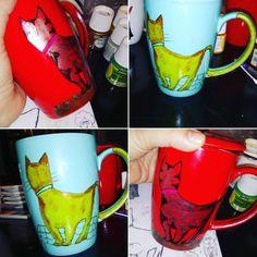 Tazones de gato 🐱 Mugs, Tableware, Cat Bowl, Gatos, Dinnerware, Cups, Dishes, Mug, Tumbler