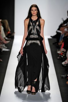 BCBG spins lace from leather