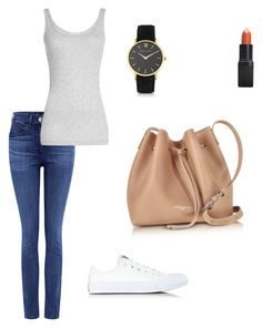 """My First Polyvore Outfit"" by yulia-plotnikova-1 ❤ liked on Polyvore featuring Larsson & Jennings, Barry M, Converse, 3x1, Vince and Lancaster"