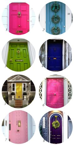 colored doors. this is why i want to go to ireland.