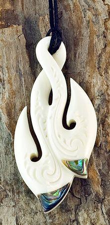 New Zealand Maori Stylized Hei Matau Fish Hook Pendant