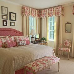 I've used the scallop with inset pleat valances like this several times.It's a soft look, but not fussy.