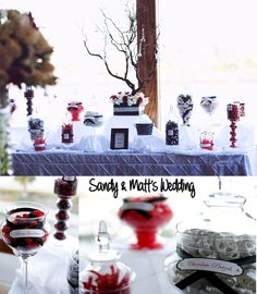 Candy Bar - Black, White, Red Wedding