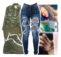 """""""Untitled #504"""" by ajdagoddess ❤ liked on Polyvore featuring Boohoo, MANGO, Michael Kors, Griffin and Lancôme"""