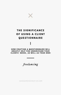 How crafting a client questionnaire will greatly help you understand your clients' needs, as well as your own; and tips on how to use it effectively. Business Branding, Business Design, Business Marketing, Creative Business, Marketing Audit, Marketing Automation, Social Marketing, Marketing Ideas, Marketing Tools