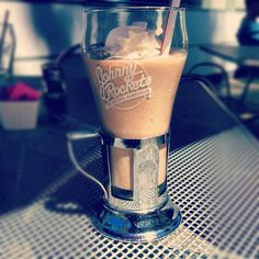 johnny rockets - chocolate shake.