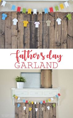 Create this fun Father& Day Garland to help celebrate Father& Day. Use it as decor on the front of a serving table, or hang it as a banner. Fathers Day Banner, Fathers Day Crafts, Happy Fathers Day, Summer Party Decorations, Party Centerpieces, New Crafts, Paper Crafts, Gift Crafts, Holiday Crafts