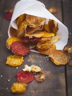 Die gesunde Alternative zu Chips aus der Packung: Gemüsechips selber machen