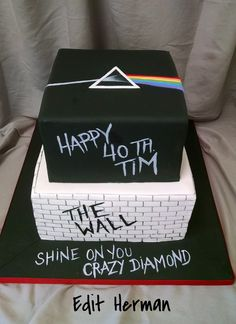 Pink Floyd cake / Inspired by other similar cake ideas from Pintrest