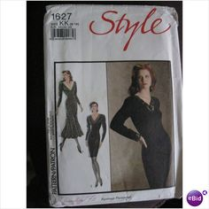 80's Style sewing pattern - evening dress