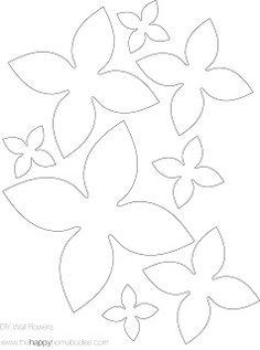 printables 6 petals flowers templates cut two of the petal