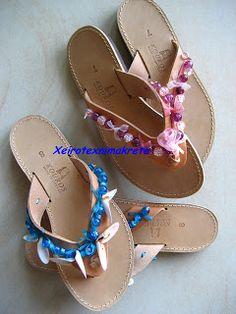 Χειροτέχνημα από Κρήτη - Handmade from Kreta Flip Flops, Sandals, Shoes, Women, Crete, Shoes Sandals, Zapatos, Shoes Outlet, Beach Sandals