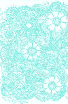 Henna Design - Aqua Art Print by Haleyivers | Society6
