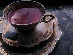"""Lord Nelson Tea"" by Kyra Dijkstra (kyra.dijkstra) on Flickr. #kyra_dijkstra #lord #nelson #tea #teacups #saucers #antique #vintage #maroon #red #reflections #gold #light #shadows"