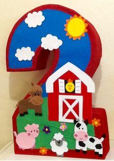 Farm pinata. Barn pinata. Number Farm pinata. Farm animals birthd | Aldi My Shop party supplies