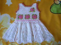 Vestido para niña tejidos a crochet parte 1