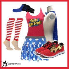 July 4th Running Costume | runDisney | Running | Race Costume | Disney | Sparkle Athletic | #TeamSparkle | Halloween | Athletic Costume