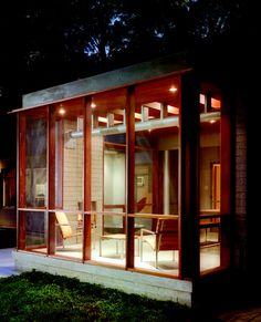 Sunrooms | Modern Screen: A porch makes contemporary connections.