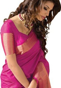TAANSHI-Womens-Tassar-Silk-Saree-Taanshi2614dPink