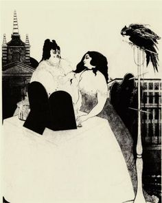 The Lady at the Dressing Table - Aubrey Beardsley