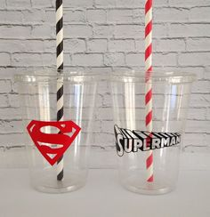 Bring fun and style to your party with these disposable plastic Superman themed Party Cups. Cups can also be personalized for a small fee. Superman Party, Superhero Party, 4th Birthday, Birthday Ideas, Party Cups, Cupping Set, Baby Party, Classroom Themes, Sweet 16