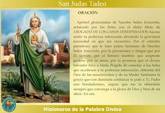 MISIONEROS DE LA PALABRA DIVINA: SANTORAL - SAN JUDAS TADEO