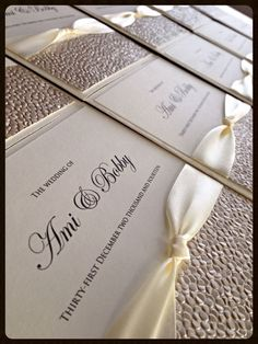 Handcrafted Wedding Invitations Choice Of Colours Frankie Collection Gold Ivory