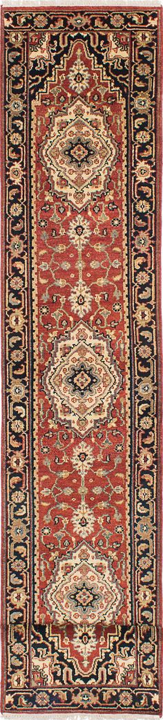 Hand-knotted Serapi Heritage Dark Copper Wool Rug