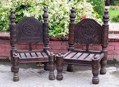 Code: TM-018 Katki (Swati Chair) Dayyar wood, old swati hand carving   Pak Rupees 16,000 USD 160$  Shipment on actual as per destination.