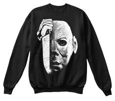 Perfect Halloween Shirt, Horror Costume Black T-Shirt Front Michael Myers, Halloween Horror, Funny Halloween, Horror Shirts, Michaels Halloween, Horror Masks, Halloween Sweatshirt, T Shirt Costumes, Tee Shirts