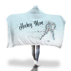 "Blue ""Hockey Mom"" Hooded Blanket Hockey Games, Hockey Mom, Hockey Decor, Hooded Blanket, Inspiration Wall, Cozy Blankets, Warm And Cozy, Blue"