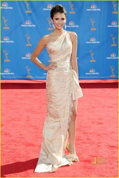 Nina Dobrev - Emmys 2010 Red Carpet