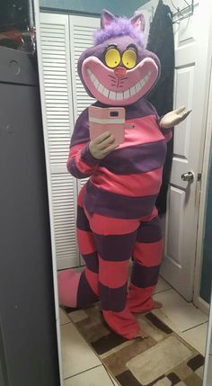 Homemade Cheshire cat Halloween costume. It took about a month to make and way too much money. Not bad for my first time though.
