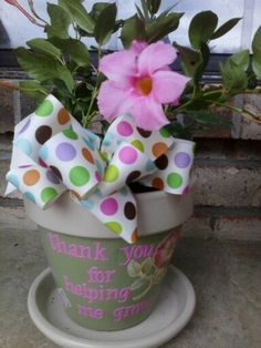 Painted & decorated flower pot