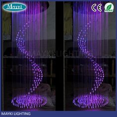 Remote control hotel lobby fiber optic chandeliers for sale