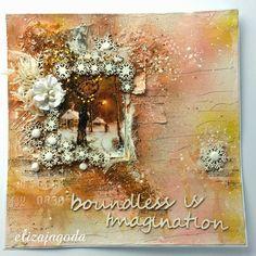 I już po warsztatach - świąteczne LO Painting, Painting Art, Paintings, Painted Canvas, Drawings