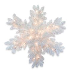 National Tree Company Iridescent Tinsel 32-inch Snowflake with Battery-operated Warm LED Lights