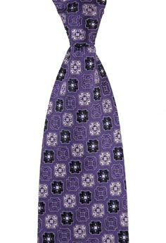 Purple perfection, in this DOLCEPUNTA Italy Geometric Jacquard Woven 100% Silk Neck Tie!  |  Want your own? http://www.frieschskys.com/neckwear/ties  |  #instastyle #mensfashion #mensstyle #menswear #dapper #stylish #MadeInItaly #Italy #couture #highfashion