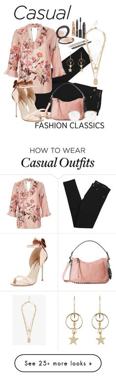 """""""casual fashion classics"""" by daincyng on Polyvore featuring Yves Saint Laurent, River Island, Sophia Webster, Zimmermann, Monki, Jessica Simpson, Linda Farrow and stylen"""