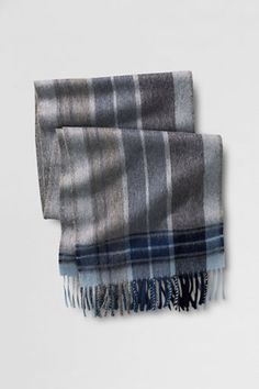 Men's Plaid Alpaca Scarf from Lands' End, $69.