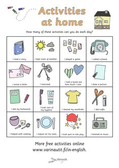 In English - Värinautit Home Activities, Indoor Activities, School Hacks, School Tips, Free Coloring Pictures, What To Do When Bored, Things To Do At Home, School Essentials, Learn French