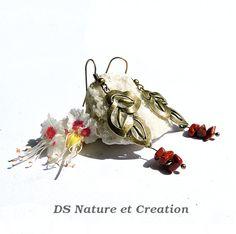 Leaf earrings red jasper jewelry handmade by DSNatureetCreation www.etsy.com/listing/233348645/leaf-earrings-red-jasper-jewelry?ref=listing-shop-header-0