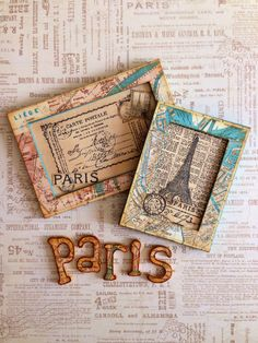 How to Make Travel Magnetic Frames using Come Away with Me by Katie #graphic45 #tutorials