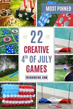 These of July games are guaranteed to be entertaining! From glow-in-the-dark ring toss to balloon dart there is something for everyone! 4th Of July Outdoor Games, 4th Of July Games, Outdoor Games For Kids, Outdoor Play, Cookout Games, Backyard Party Games, Kids Party Games, 4th Of July Celebration, 4th Of July Party