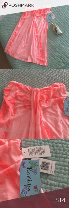 Swimsuit Coverup or Dress Swimsuit coverup but certainly could be used as a dress.  Never worn with tags still on it.  Really cute!  Excellent condition!  Tag says size large but it seems like a medium size. Raviya Swim Coverups