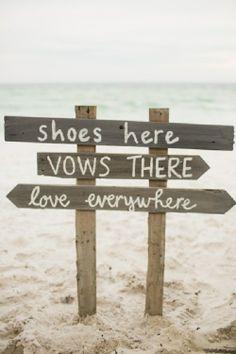 I love this idea; for all your beach weddings! BEACH WEDDING INSPIRATION
