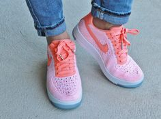 See how Carly styles our Nike Air Force 1 Flyknit Low  Atomic Pink  http c807e2b1c3