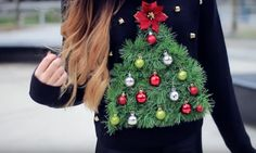 11 DIY Ugly Sweater Tutorials If You Want To Show Up In A Tacky, But Unique Christmas Ensemble