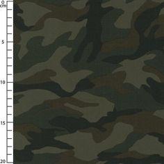 Tissu Coton Ripstop - Motif Camouflage Marron x10cm
